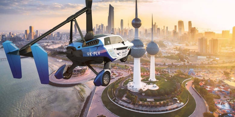 Flying Car Pal V Header Kuwait Airways